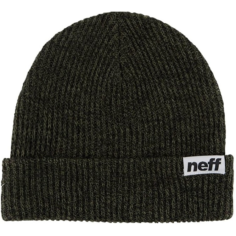 Neff Fold Heather Beanie - Black/Olive