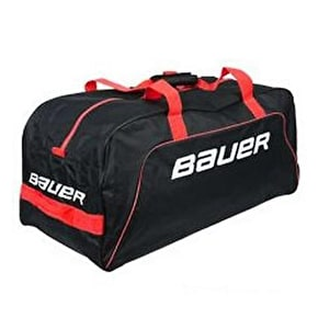 Bauer Core Wheel Hockey Bag - Black/Red