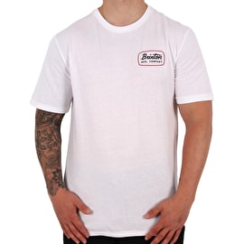Brixton Jolt Premium T-Shirt - White/Black/Red