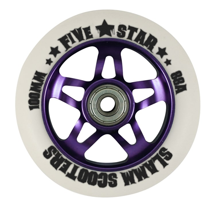 Slamm 5 Star Metal Core Wheel - Purple