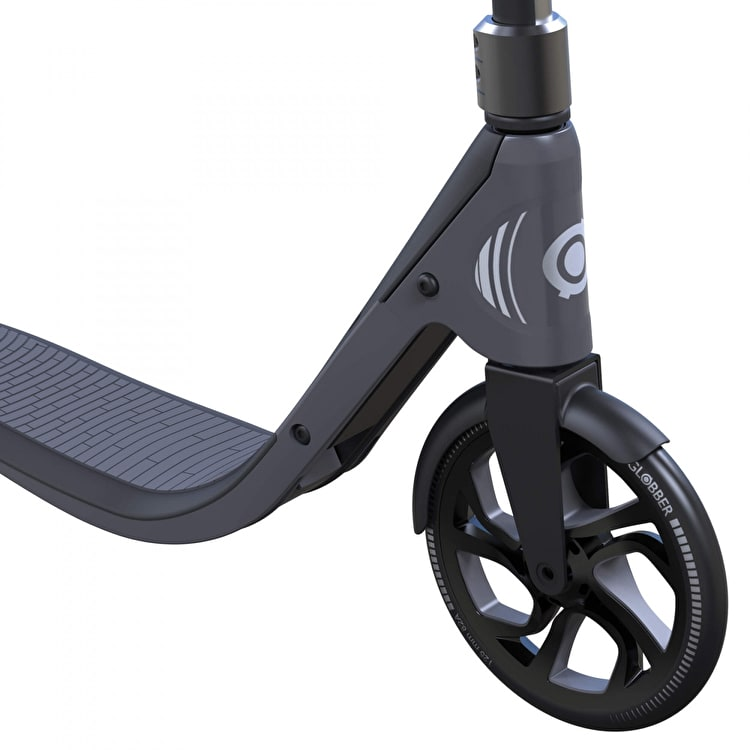 Globber One NL 205 Deluxe Complete Commuter Scooter - Titanium/Charcoal Grey