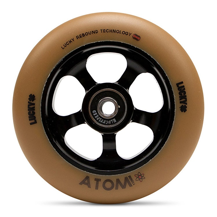 Lucky Atom 110mm Scooter Wheel - Black/Gum