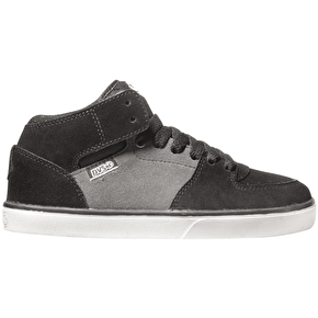 DVS Torey Kids Skate Shoes - Black/White/Grey