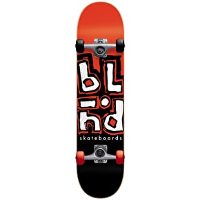 Blind Jumbled Split Complete Skateboard - Red/Black 7.625