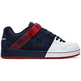 DC Manteca V Skate Shoes - Navy/Red