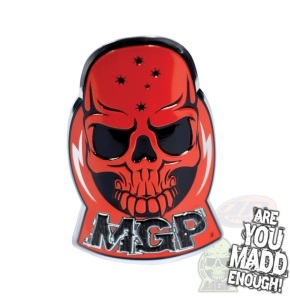 Mgp Alloy Headtube Decal - Red