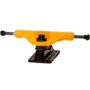 Silver M-Class Skateboard Trucks - Neon Orange 8.25