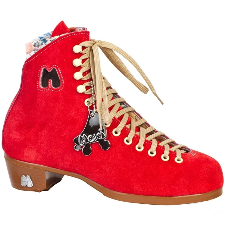 Moxi Poppy Red Quad Roller Skates-Boot Only