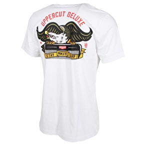 Uppercut Deluxe Moustache Wing Eagle T-Shirt - White