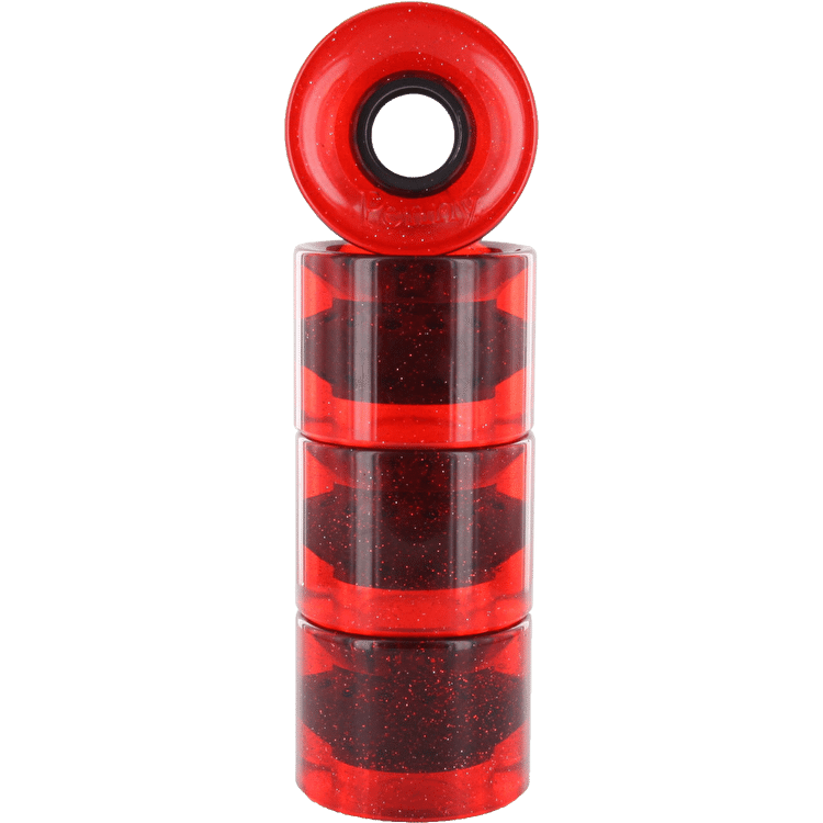 Penny Glitter Wheels - Red 59mm (Pack of 4)