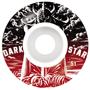 Darkstar Warrior Skateboard Wheels - Red 51mm