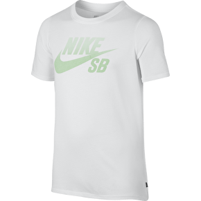Nike SB Kids Logo Gradient T-Shirt - White/Fresh Mint