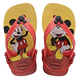 B-Stock Havaianas Disney Classic Kids Flip-Flops - Red/Black - Toddler UK 8/9 (Box Damage)