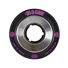 ATOM Boom Alloy Core 59mm Quad Derby Wheels (4pk) Black (Firm)