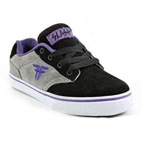 Fallen Kids Slash Skate Shoes - Black/Grey/Purple