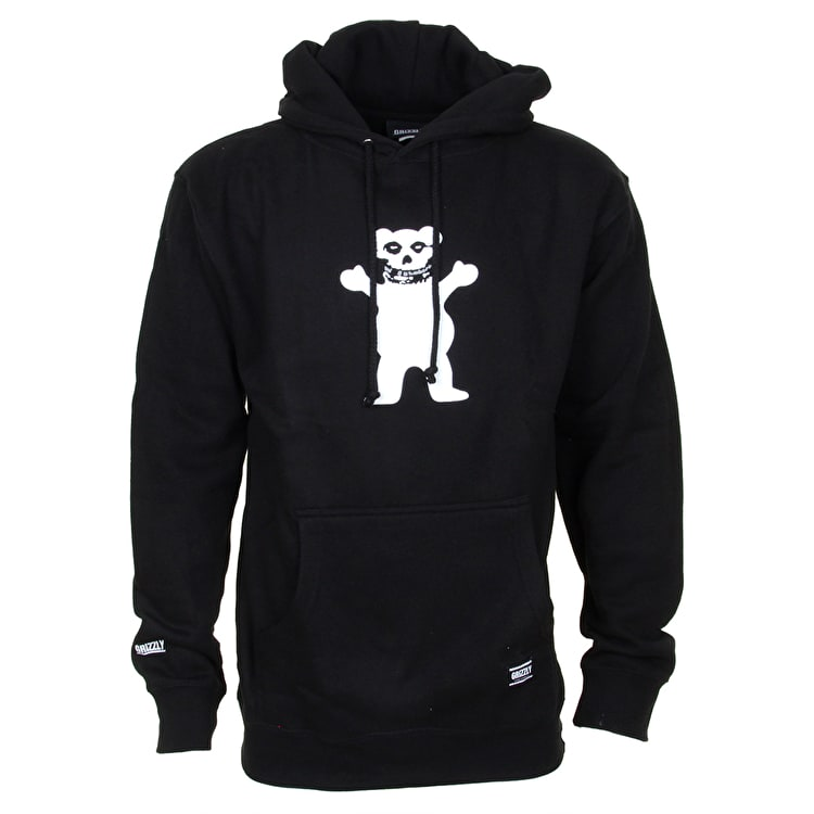 Grizzly Fiend Club OG Bear Hoodie - Black