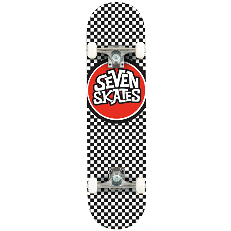 Seven Checkered Complete Skateboard - 7.8""