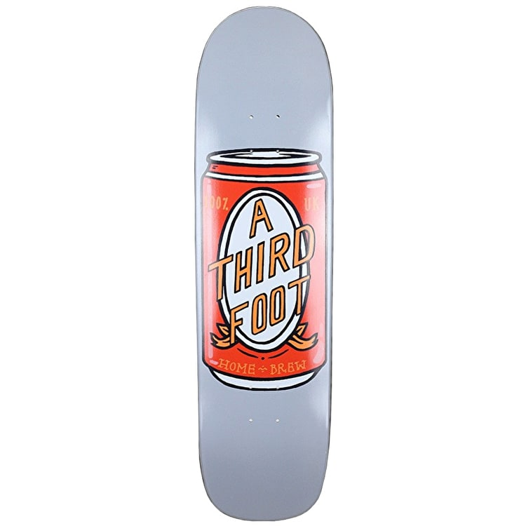 A Third Foot Beer Can Jim The Skin Skateboard Deck - 8.5""