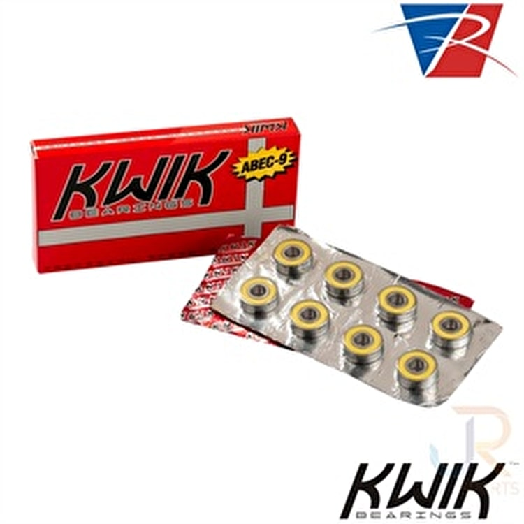 Riedell KWIK Abec-9 Skate Bearings (Pack of 16)