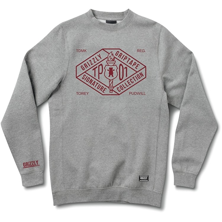 Grizzly Torch TP01 Crewneck - Heather Grey