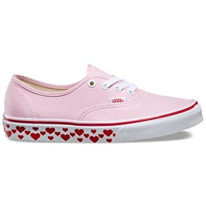 Vans Authentic Womens Shoes - (Hearts Tape) Pink Lady/Red