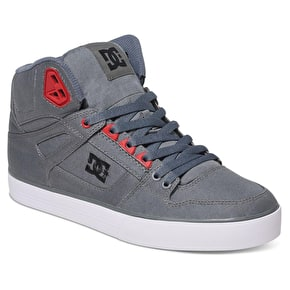 DC Spartan High WC TX Skate Shoes - Grey/Black/Red