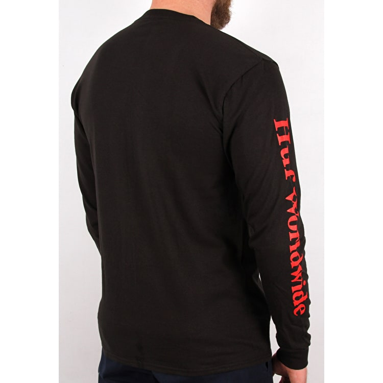 Huf Domestic Long Sleeve T Shirt - Black