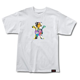 Grizzly Adventure Time - Like Your Brain & Stuff  T-Shirt - White