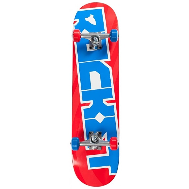 Rocket Pro Logo Tilt Complete Skateboard - Red / Blue