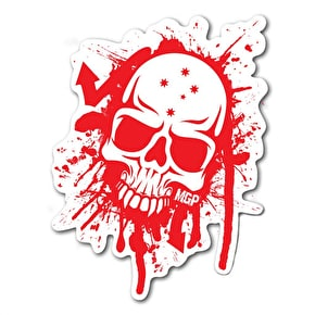 MGP Skull Splat Sticker - Red