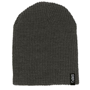 DVS Waffle Slouch Knit Reversible Beanie - Black/Grey