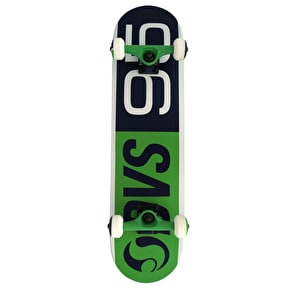 DVS 95 Logo Complete Skateboard - Green/Blue/White 7.75