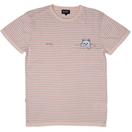 RIPNDIP Peek A Nermal Knit T Shirt - Light Pink/Teal