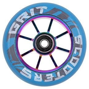 Grit 8 Spoke ACW 100mm Scooter Wheel - Blue/Neochrome