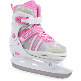 SFR Nova Adjustable Ice Skates - White/Pink