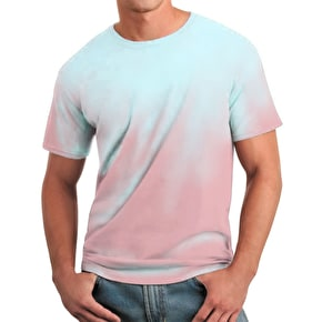 Global Technacolour T-Shirt - Pink into Blue