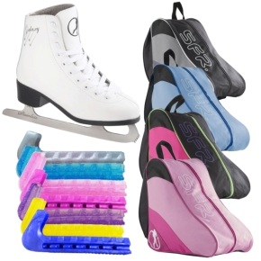 SFR Galaxy Ice Skate Bundle- White
