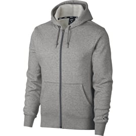 Nike SB Icon Zip Hoodie - Dark Grey Heather/Black