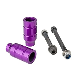 Grit Alloy Scooter Pegs - Anodized Purple