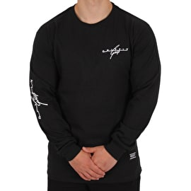 Grizzly Streamline Long Sleeve T shirt - Black