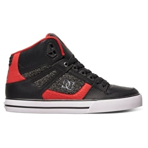 DC Spartan High Skate Shoes - Black/Red
