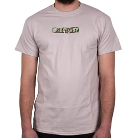 SkateHut Bar Logo T Shirt - Ice Grey/Camo
