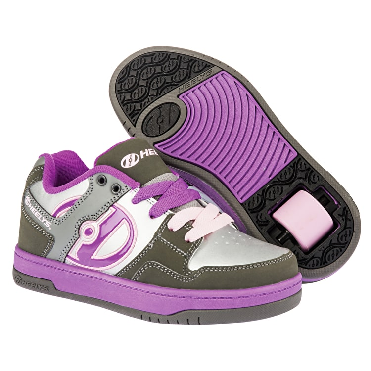 Heelys Flow - Charcoal/Silver/Purple