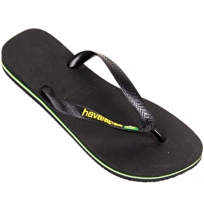 Havaianas Brazil Logo - Black UK5/6 (B-Stock)