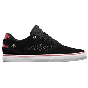 Emerica Reynolds Low Vulc Skate Shoes - Black/White/Red