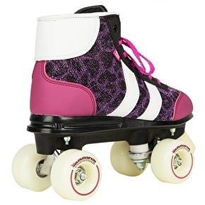 Rookie Quad Roller Skates - Retro V2 Purple Glitter