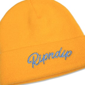 RIPNDIP Serpent Ribbed Beanie - Gold