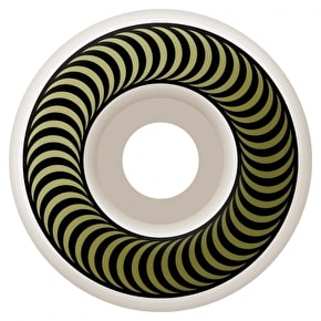Spitfire Classic Skateboard Wheels - White/Brown 50mm (Pack of 4)