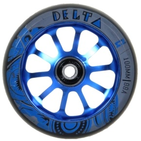AO Delta 100mm Wheel incl Bearings - Blue