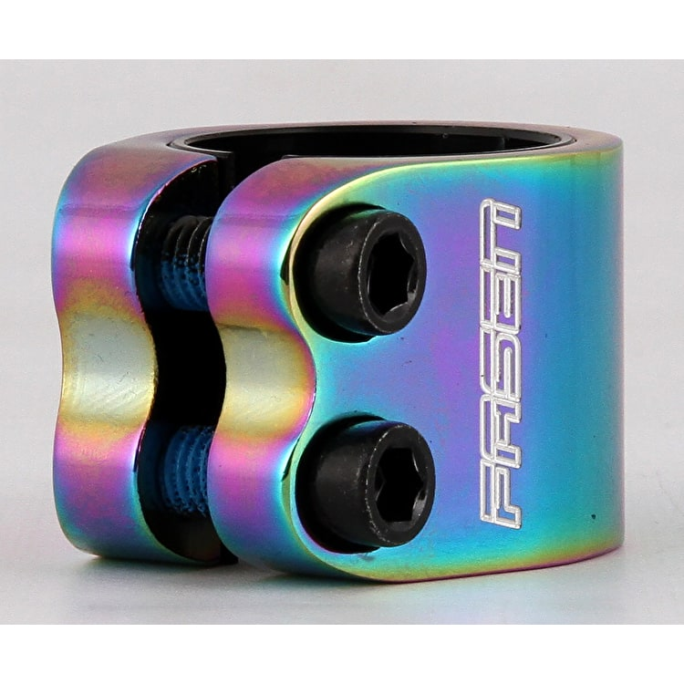 Fasen 2 Bolt Double Scooter Collar Clamp - Oil Slick